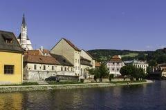 City scape overlooking Czeske Krumlov, CZ Stock Images