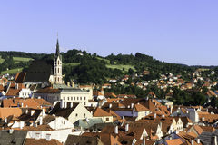 City scape overlooking Czeske Krumlov, CZ Stock Photography