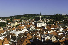City scape overlooking Czeske Krumlov, CZ Stock Photos