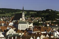 City scape overlooking Czeske Krumlov, CZ Stock Image