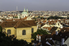 City scape overlooking Prague, CZ Stock Photography