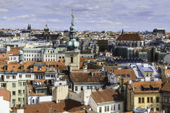 City scape overlooking Prague, CZ Royalty Free Stock Photos