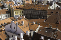 City scape overlooking Prague, CZ Stock Image