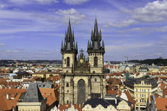 City scape overlooking Prague, CZ Royalty Free Stock Photography