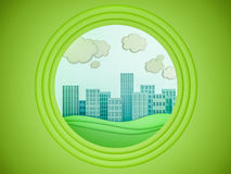 City scape paper cutout style. 3d render Royalty Free Stock Photography