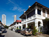 City scape of Penang (Malaysia). New buildings and old architecture style royalty free stock photos
