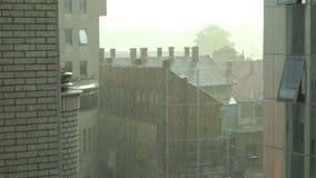 City Scape Raining stock footage