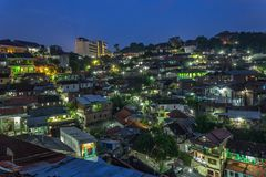 City scape semarang city central java. Blue hours semarang city Stock Images