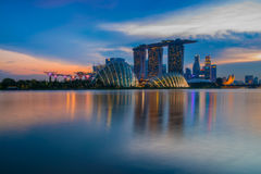 City scape of Singapore city Royalty Free Stock Photos