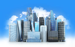 City scape, skyscrapers . Royalty Free Stock Images