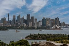 City scape of Sydney and the Opera House, Australia royalty free stock photography