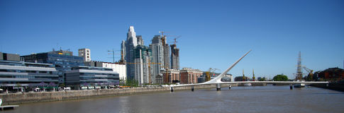 City scape to Buenos Aires Stock Photography