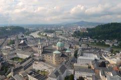 City-scape van Salzburg, Oostenrijk Stock Foto's