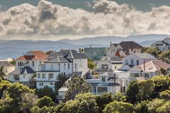 A city scape of Wellington, New Zealand Stock Photo