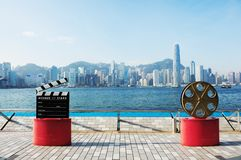 City scene from avenue of stars, Hongkong Royalty Free Stock Image