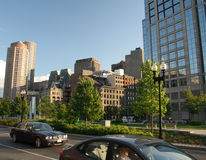 City scene - Boston, Massachusetts. The commercial district of Boston Royalty Free Stock Photography