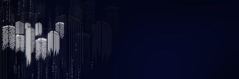 City scene on night time Stock Image