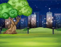 City scene at night time Stock Photography