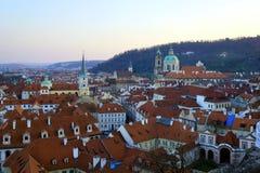 City scene. Praga city scene in sunset stock photo