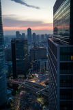 City scene at sunset in Japan Stock Photos