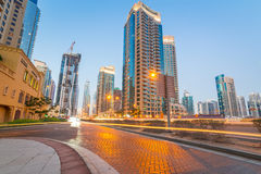 City scenery of Dubai Marina Royalty Free Stock Images