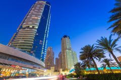 City scenery of Dubai Marina Royalty Free Stock Photos