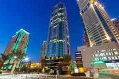 City scenery of Dubai Marina Stock Photography