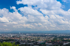 City scenery from Hat Yai public park view. Aerial view of Hat Yai city from Hat Yai public park, Songkhla, Thailand Stock Images