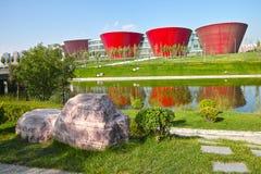 City scenery. The scenery of Taiyuan Museum in Taiyuan City,Shanxi,China Royalty Free Stock Photo