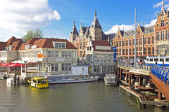 City scenic from Amsterdam in the Nethe Royalty Free Stock Image