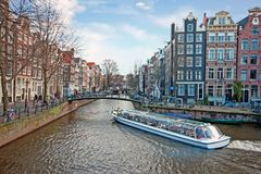 City scenic from Amsterdam in Netherlands. City scenic from Amsterdam in the Netherlands Royalty Free Stock Image