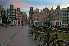 City scenic from Amsterdam in the Netherlands royalty free stock photo