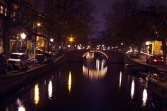 City scenic in Amsterdam the Netherlands Royalty Free Stock Photo