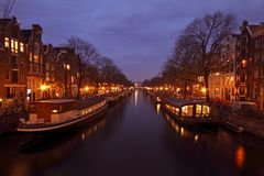 City scenic in Amsterdam the Netherlands Stock Images