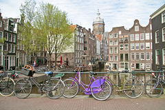 City scenic from Amsterdam in Netherlands Royalty Free Stock Photography