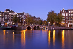 City scenic from Amsterdam Netherlands Royalty Free Stock Images