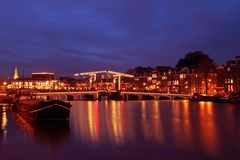 City scenic from Amsterdam in Netherlands Stock Image