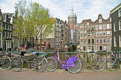 City scenic from Amsterdam in the Netherlands Stock Photos