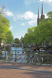 City scenic from Amsterdam the Netherlands Royalty Free Stock Images