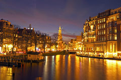 City scenic from Amsterdam in the Netherlands Stock Image