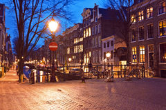 City scenic from Amsterdam in the Netherlands Royalty Free Stock Photography