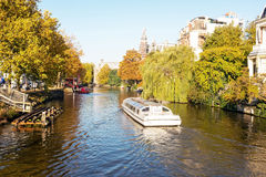 City scenic from Amsterdam in Netherlands Royalty Free Stock Images