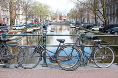City scenic from Amsterdam in Netherlands Stock Images