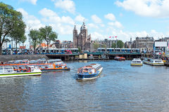 City scenic in Amsterdam Netherlands Stock Photo