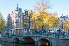 City scenic from Amsterdam in Netherlands in autumn. City scenic from Amsterdam in the Netherlands in autumn Stock Photo