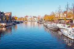 City scenic from Amsterdam in Netherlands in autumn. City scenic from Amsterdam in the Netherlands in autumn Royalty Free Stock Photography