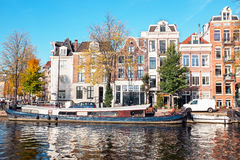 City scenic from Amsterdam in Netherlands in autumn Stock Photo