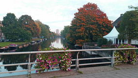 City scenic from Amsterdam in Netherlands in autumn Royalty Free Stock Photo