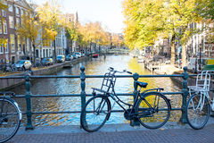 City scenic from Amsterdam Netherlands in autumn. City scenic from Amsterdam in the Netherlands in autumn Stock Photos
