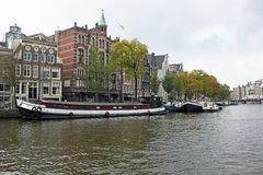 City scenic in Amsterdam in the Netherlands Stock Image